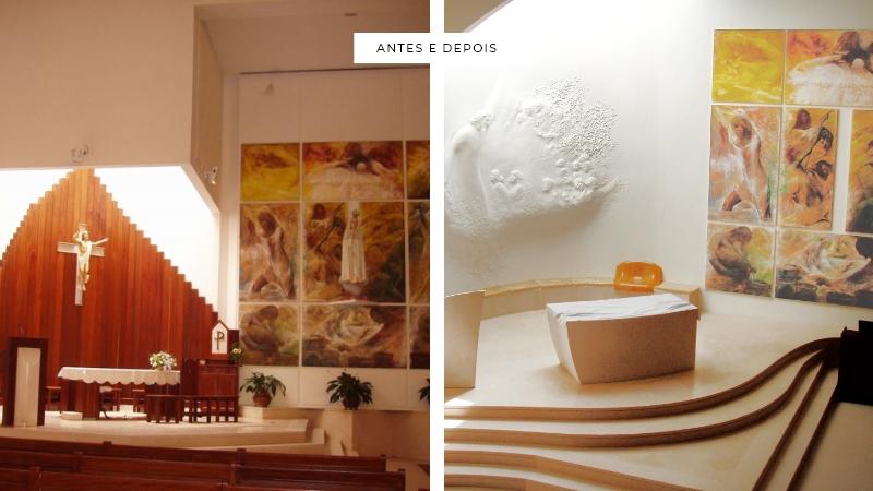 ANTES E DEPOIS - Igreja N. Senhora de Fátima - Entroncamento